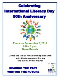 International Literacy Day at the Dawe Library @ Dawe Library | Red Deer | Alberta | Canada